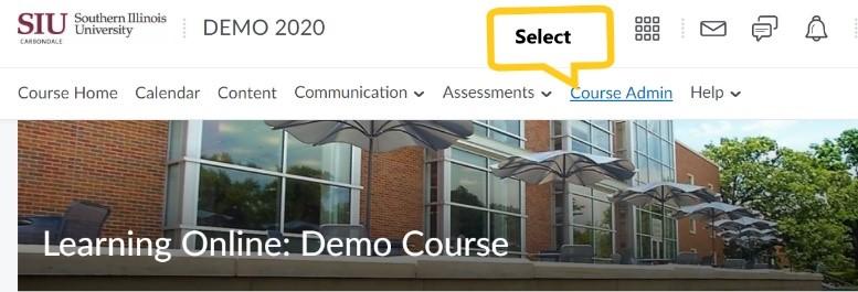 Select Course Admin