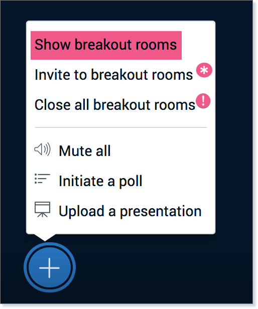 Show breakout rooms