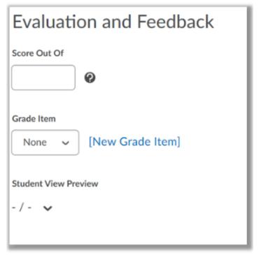 Assignment Grade Options