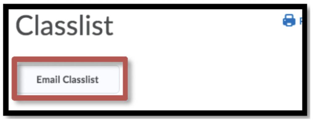 Email Classlist