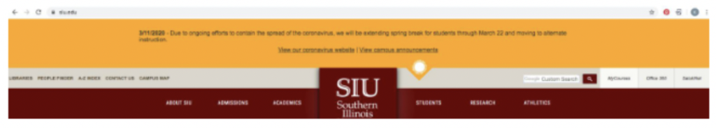 Access D2L My courses from SIU homepage