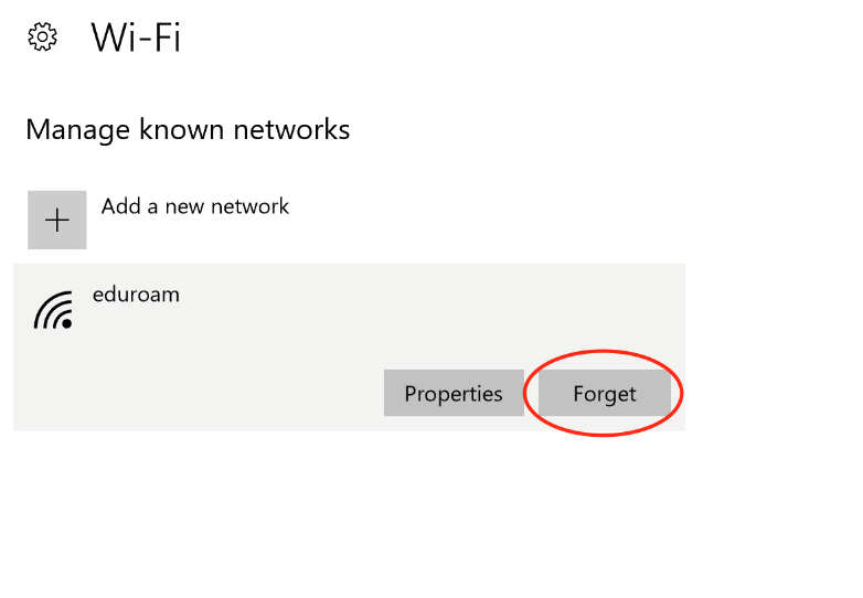 Forget network.