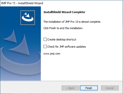 InstallShield Wizard Complete Click 'Finish'