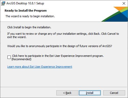 Final install step. Click 'Install'