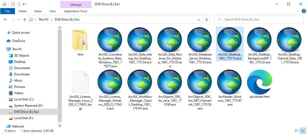 ArcGIS Desktop 10.8 - Installer Application