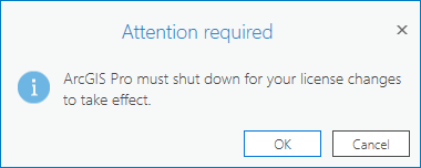 ArcGIS Pro 2.8 - Attention required