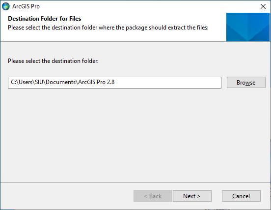 ArcGIS Pro 2.8 - Destination Folder for Files