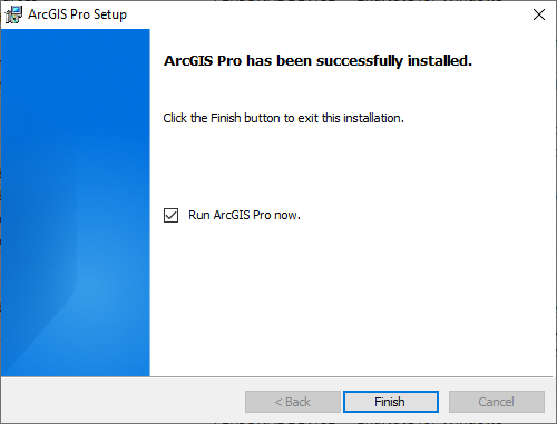 ArcGIS Pro 2.8 - Installation Completed
