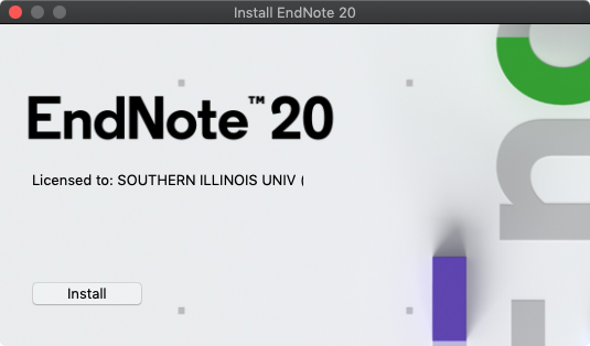 EndNote 20 for Mac - Licensee