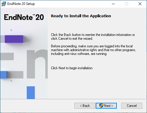 EndNote 20 for Windows - Ready to Install