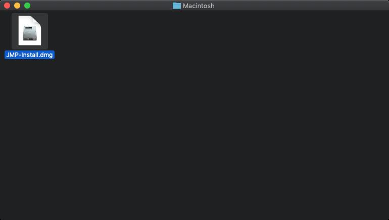 JMP Pro 16 for Mac - Installer Disk Image