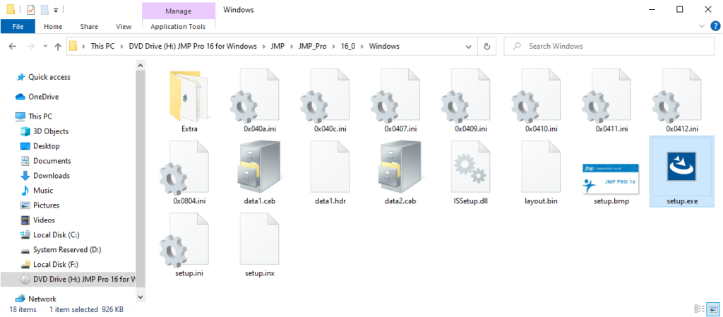 JMP Pro 16 for Windows - Installer Application