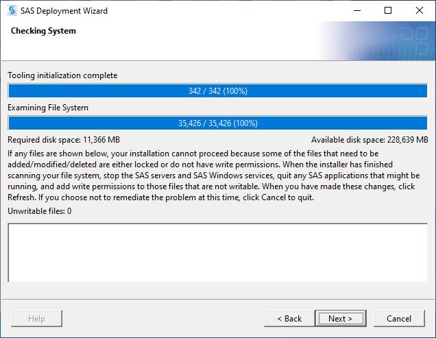 SAS 9.4M7 for Windows - Checking System