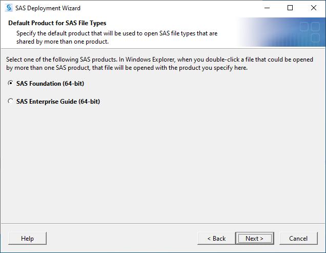 SAS 9.4M7 for Windows - Default Product for SAS File Types