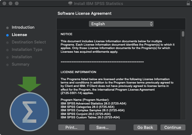 SPSS Statistics 28 for Mac - Software License Agreement