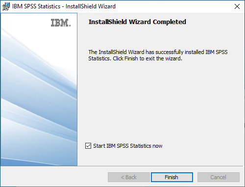 SPSS Statistics 28 for Windows - Install Completed